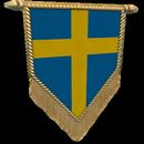 Настроение: Флажок Швеция золотой