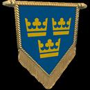 Настроение: Флажок Швеция три короны